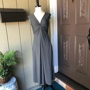 Patagonia Gray Banda Twist V-neck Dress
